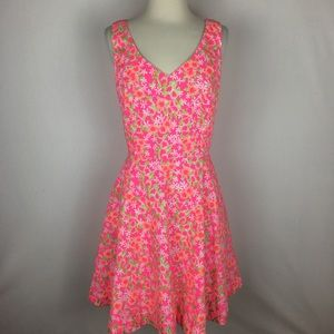 Lilly Pulitzer Freja Dress  in Fiesta Pink size 12